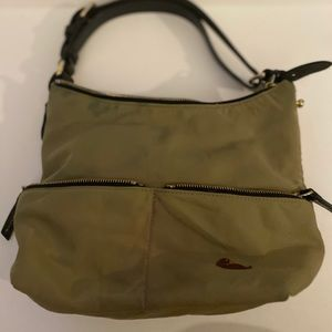 Dooney & Burke canvas grey green shoulder bag
